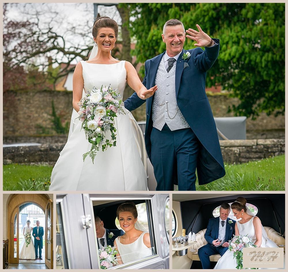 Wentbridge House Wedding Photographer - Brides Arrival at Church
