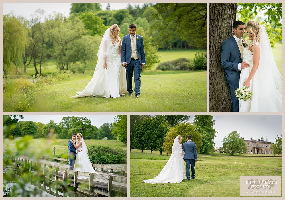 Rudding Park Harrogate Wedding Photography  - Bride and Groom Shots by the lake