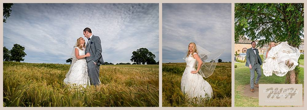 Rogerthorpe Manor Hotel Pontefract Wedding Photographer Wheat Field
