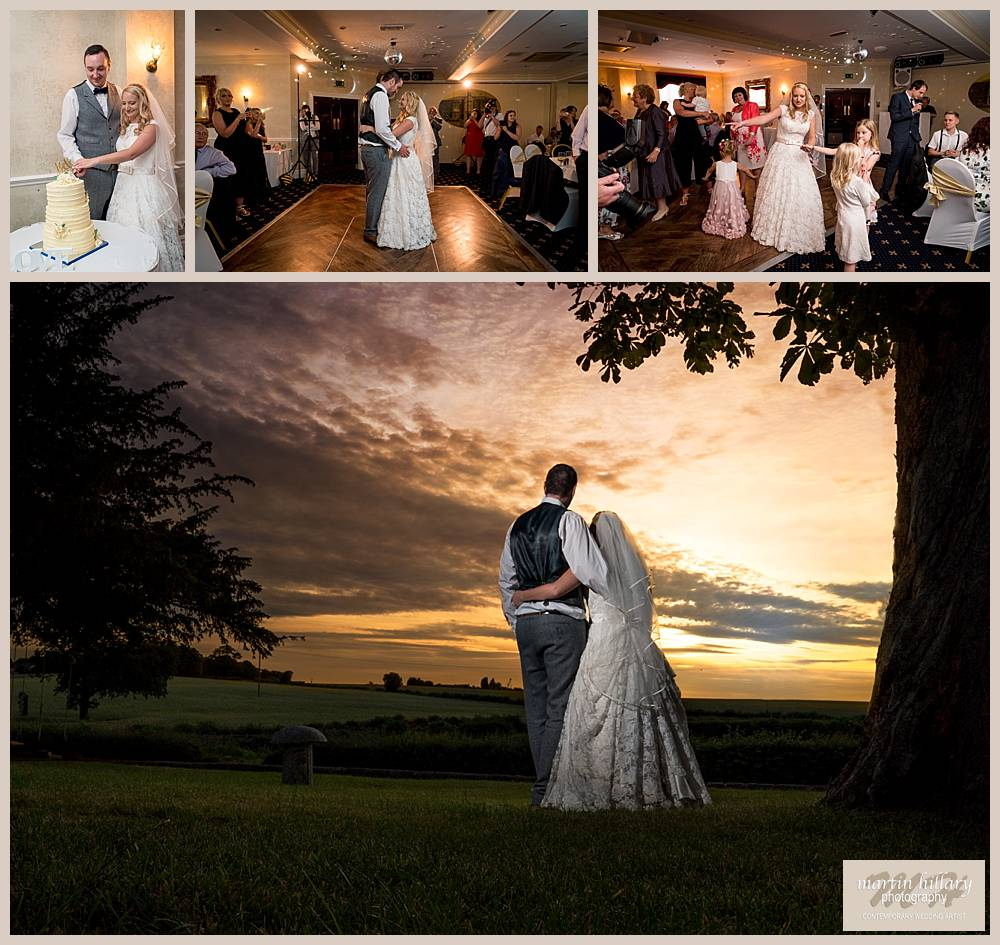 Rogerthorpe Manor Hotel Pontefract Wedding Photographer Sunset