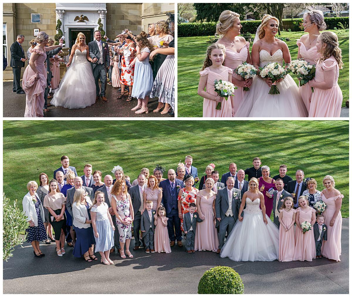 Groups Wedding Photography Wentbridge House Hotel