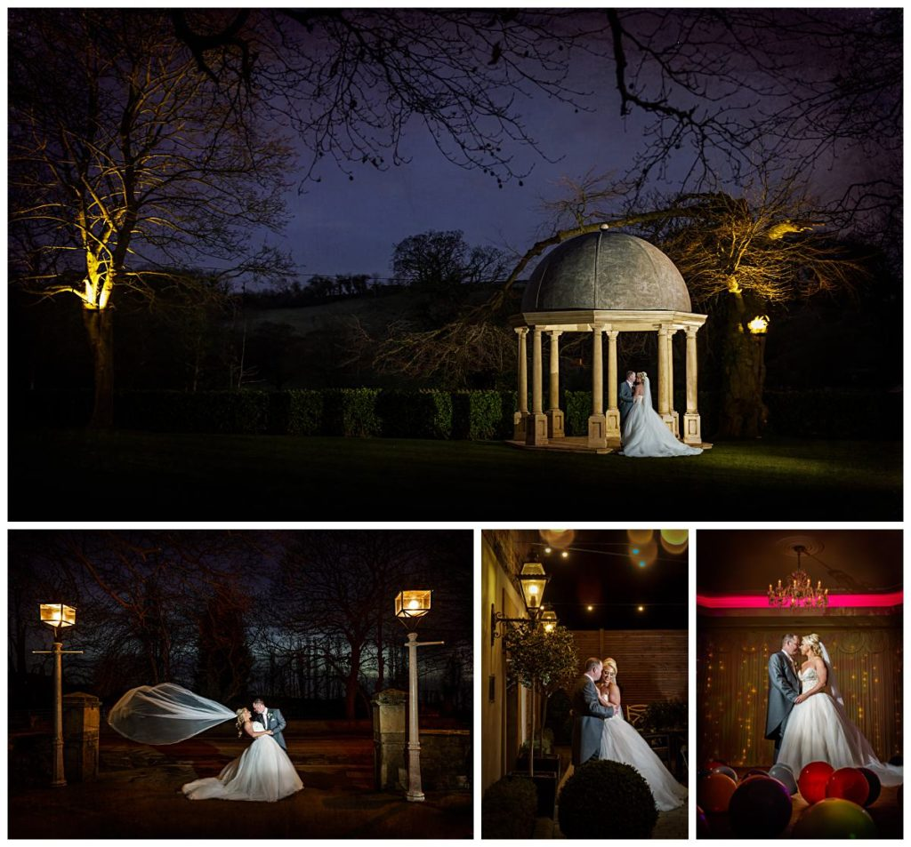 Wow shots of the bride and groom at Wentbridge House Hotel